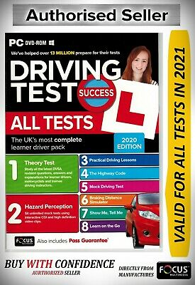 Driving Theory Test & Hazard Test CAR. PC DVD CD ROM NEW 2019*ATpc