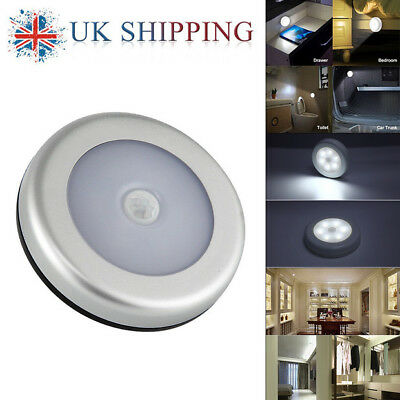 6LED Wireless PIR Auto Motion Sensor Infrared Night Light Cabinet Stair Lamp 1-6