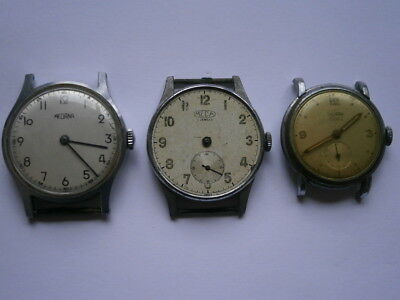 Job lot of vintage gents MEDANA MEDA watches mechanical watches spares or repair