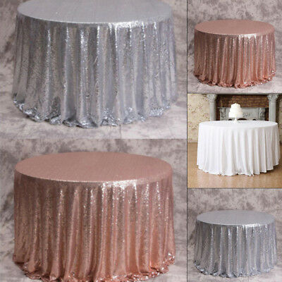 120CM Sparkle Glitter Tablecloth Table Cloth Cover For Wedding Event Party Prom