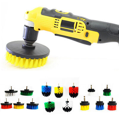 Drill Cleaning Brush Power Scrubber Stiff Scrub Bit Pad Tile Grout Cleaner Sigly