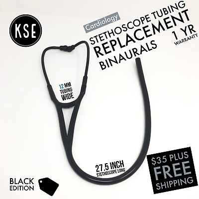 Black Edition Stethoscope Binaurals replacement tubing 12mm by Kongs Enterprise