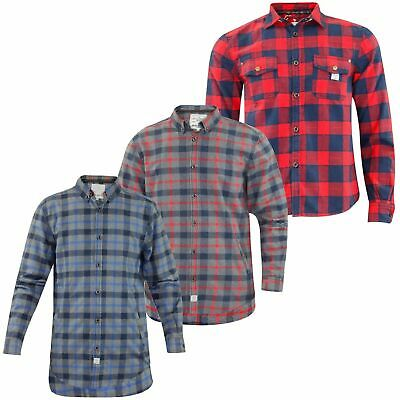 Mens Jack South Flannel Lumberjack Check Brushed Casual Cotton Work Shirt