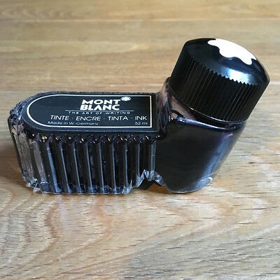 Encrier Bouteille MONT BLANC Encre Noire Made In GERMANY 50 ml