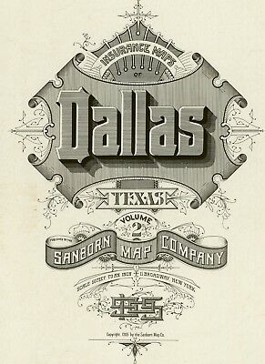 Dallas,Texas~Sanborn Map© sheets~on CD Volume 2 only~83 maps in full color