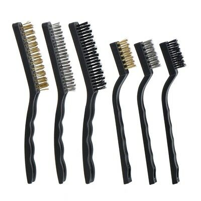 1X(Wire Brush Set for Cleaning Welding Slag, Rust and Dust, 6 Pieces, Stain P1A1