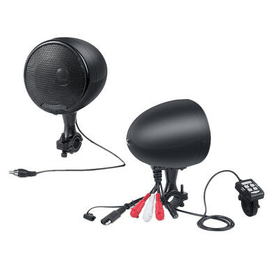 600W Bluetooth Waterproof Motorcycle Stereo Speakers Audio Amp MP3 System