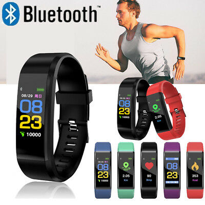 ID115 Plus Bluetooth Smart Watch Fitness Tracker Bracelet Heart Rate Steps UK