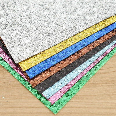 A4 Shinny Thick Glitter Craft Paper Sparkling Sheet DIY Party Card Material