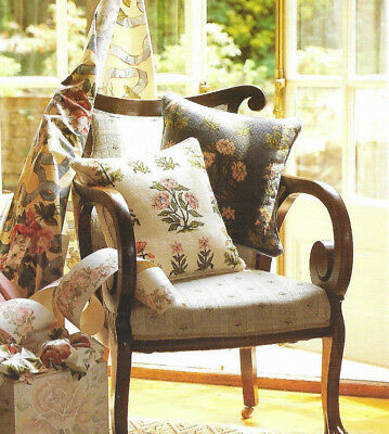 Carnations Victoria & Albert Cushion Needlepoint Chart in Colour Tapestry Flower