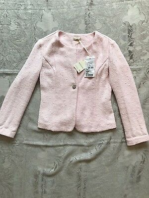 MONNALISA CHIC Pastel Pink Jacket For Girl Age 12/14 (size S)