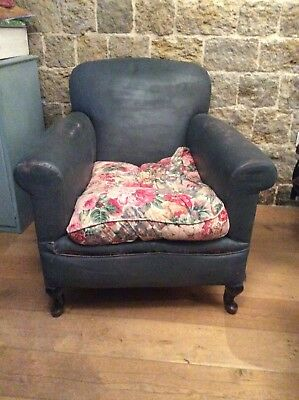 Vintage Antique Edwardian Armchair Club Chair