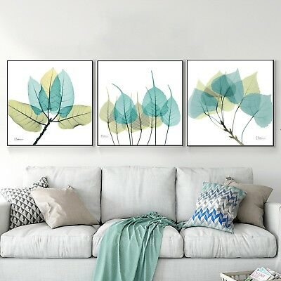 Abstract Art Leaf Canvas Poster Nordic Paint Modern Wall Decor Unframed A596