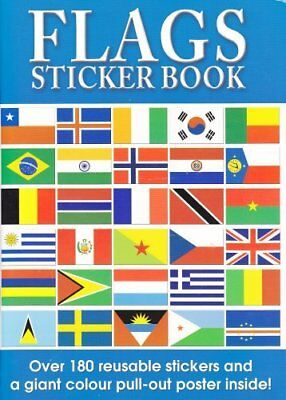 Flags of the World Sticker Book and World Poster