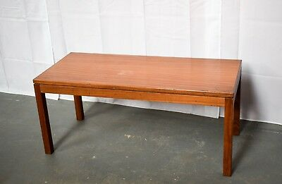 Teak Retro - British Army  Military Coffee Side Table - Dated 1987