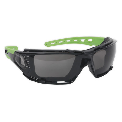Sealey Polycarbonate Safety Glasses Goggles EVA Foam Lining - TINTED LENSES CE