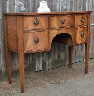 Bevan Funnell Reprodux Small Mahogany Bowfront Sideboard Credenza Quality + Key