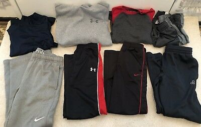 Youth Boys Athletic Clothing clothes lot pants hoodie Nike Under Armour 7 M 10