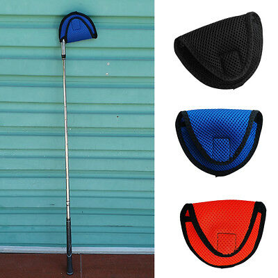 Golf Mallet Putter Cover Center Shaft Putter Head Cover with Fastening Tape