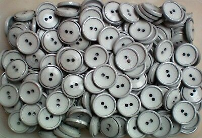 19mm 30L White Ivory 2 Hole Polished Buttons Sewing Craft Scrapbook Button W774