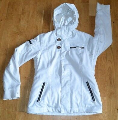 388030b811 BURTON DRYRIDE womens waterproof Winter jacket LARGE SKIING SNOWBOARD IVORY