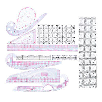 11 Style Fashion Ruler Set Vary Form Curve French Curve Rulers Grading Ruler