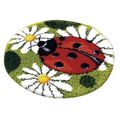 DIY Ladybug & Flower Latch Hook Rug Making Kits Kids Children Craft Cushion