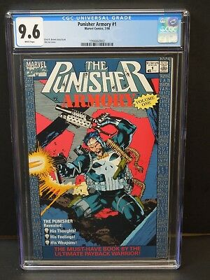 Marvel Punisher Armory #1 1990 Cgc 9.6 White Pages Jim Lee Cover Newsstand Upc
