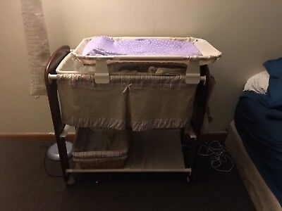bassinett, baby, changing table, used, nursery, neutral color