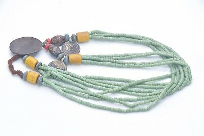 Traditional Naga Necklace with Old Handmade brass beads Large rounded Metal