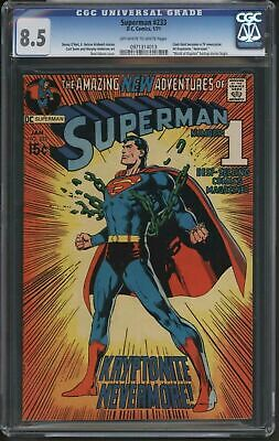 Superman 233. Cgc Graded. Fantastic Page Quality.
