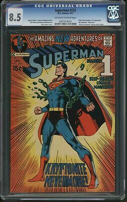 Superman #233 Classic Neal Adams Cover & Story - Cgc 8.5 Fantastic Page Quality