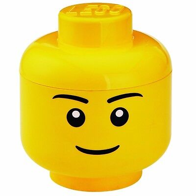 Lego Toy Storage Head - Boy Large Lego Brick Storage Container Toy New Boxed