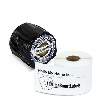 "Dymo 30857 Compatible Name Tag Badge Multi Adhesive Labels (2.25"" x 4"", 6 Rolls)"