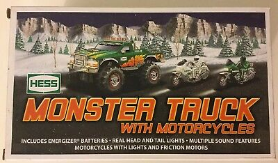 Hess Monster Truck with Motorcycles 2007
