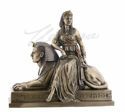 Cleopatra Sitting On A Statue Of Sphinx Sculpture Egyptian Figure HOME DECOR