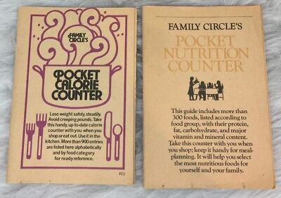 Vintage Family Circles Mini Book Lot Of 2 Pocket Calorie And Nutrition Counter