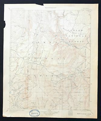 Gallina New Mexico Rare Antique 1909 USGS Topographic Map Cuba 30-minute Topo