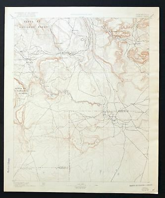 Bernal New Mexico Vintage USGS Topographic Map 1894 Tecolote San Jose
