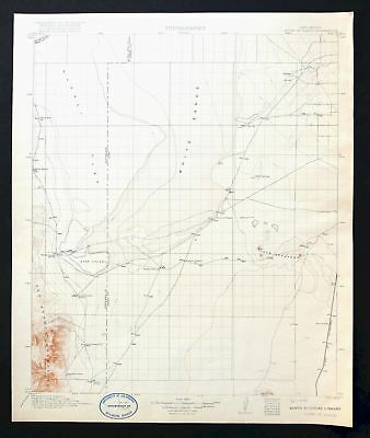 Point Of Sands New Mexico Antique 1916 USGS Topo Map White Sands Topographical