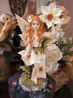 Blue-eyed Dogwood Flower Fairy Figurine Meadowland Pacific Giftware New in Box!