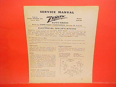 1929 1940 Zenith Radio Corporation Service Manual Cd 1000. 1940 1941 Ford Mercury Deluxe Convertible Coupe Zenith Am Radio Service Manual. Wiring. Zenith 8s154 Tube Radio Schematics At Scoala.co