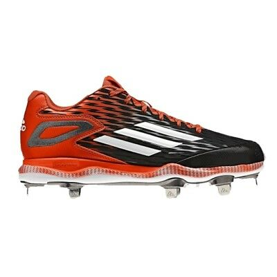 Neu Herren Adidas Poweralley 3 Baseball Schuhe Metall Spitzen Schwarz/Orange