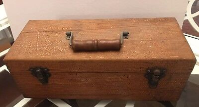 Antique Vintage Wood Fishing Lure Accessory Tackle Box Good Condition