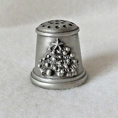 Christmas Tree Pewter Thimble, 1980 Limited Edition by Schmid - Mint