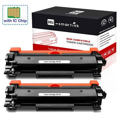 2x TN760 with IC Chip Toner Cartridge for Brother HL-L2390DW DCP-L2550DW Printer