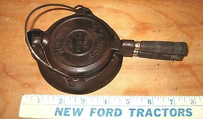 ORIGINAL Vintage Wagner Ware Black Cast Iron 3 Pc Toy Waffle Iron Not A Repro