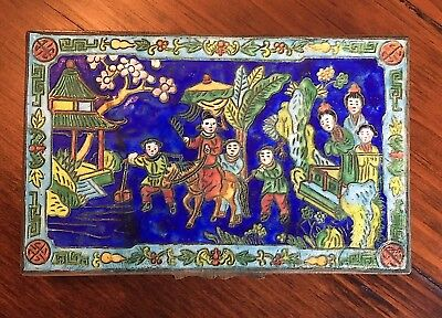 Antique China Chinese 1920s Colorful Cloisonne Cigarette Case