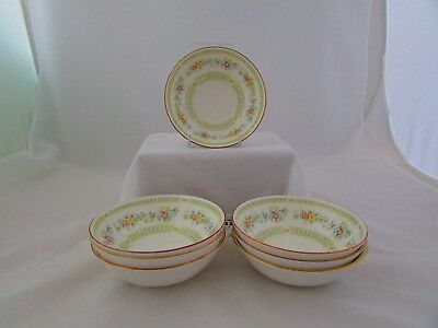 "MINTON "" BROADLANDS "" PATTERN FRUIT BOWLS x 7"
