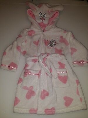 "Disney Girls 12-18 Months ""Thumper"" Dressing Gown/bath Robe Very Warm &  Cute 🐰"